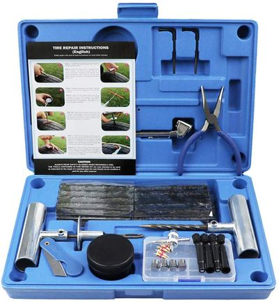 Puncture Repair Kit In Blue Case