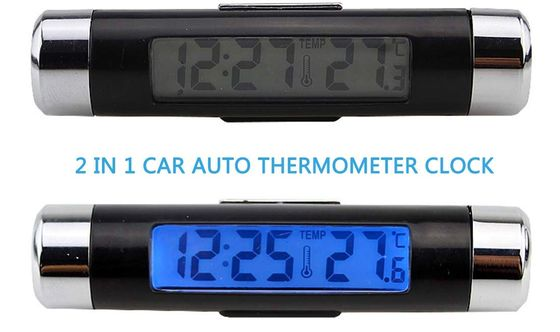 Automotive Digital Thermometer In Green And Blue