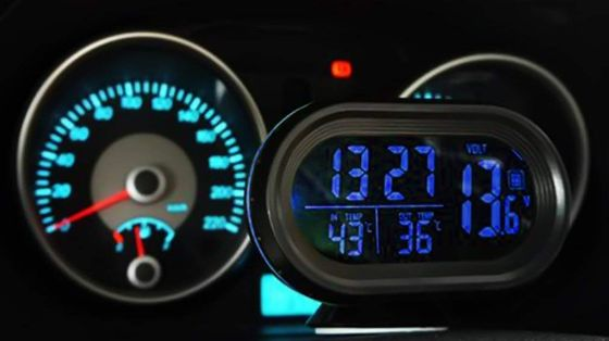 Car Thermometer Alarm With Black Cable