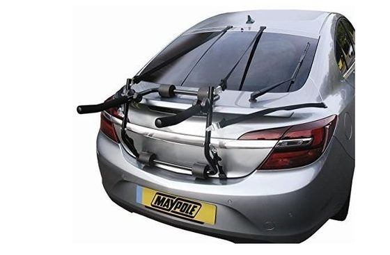 Rear Cycle Rack On Silver Car
