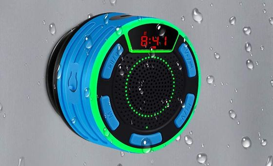 Bluetooth Shower Speaker With LED Clock
