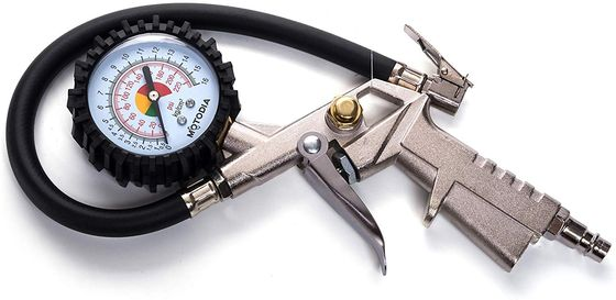 Tyre Pressure Gauge Inflator With White PSI Dial