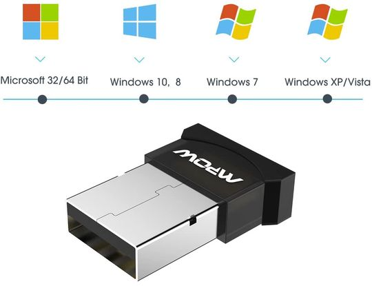 Bluetooth Adapter For PC With White Logo