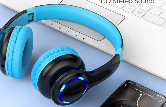 Kids Headset Over-Ear With Blue Muffs