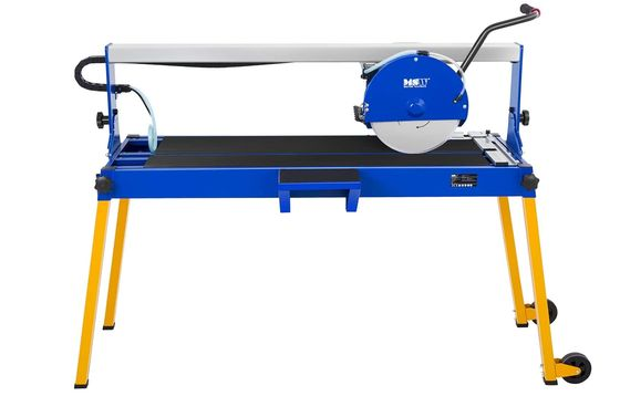 Tile Cutting Machine In Blue And Yellow