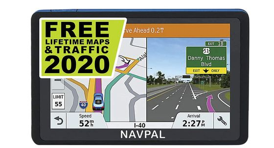 Sat-Nav With Speed On Display