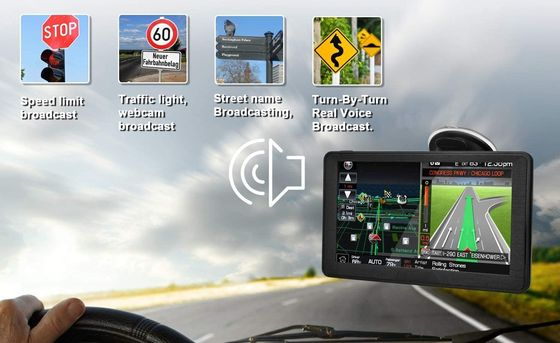 Sat Nav For Car Black Border