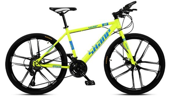 Big Wheel Mountain Bike With Yellow Frame