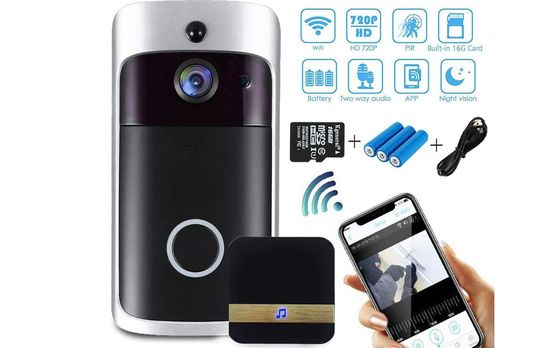 CCTV Doorbell Camera With Blue Batteries