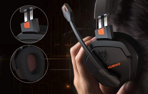 Black Gaming Headphones With Angled Ear Piece