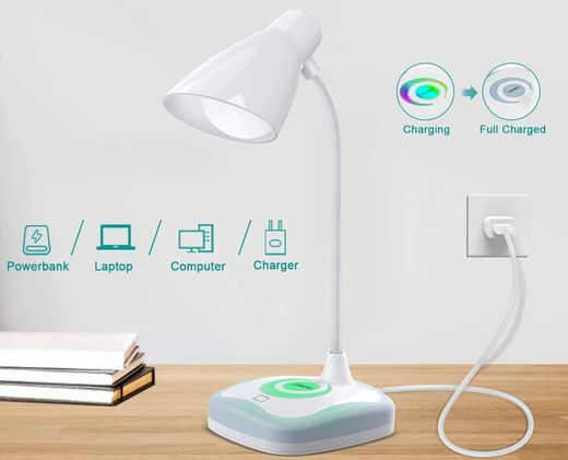 LED Touch Lamp With White Cable