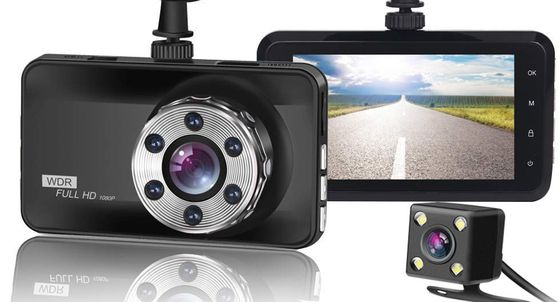 Front Back Dash Cam In Black Casing