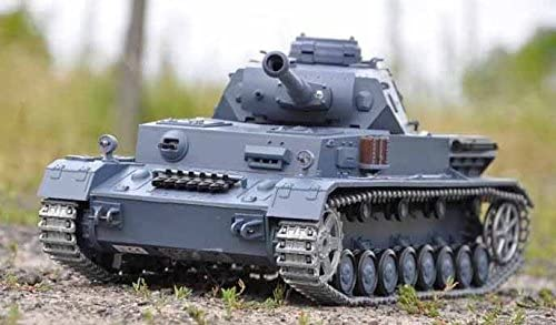 Metal RC Tank On Grass Outdoors