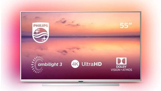 55 Inch Ultra HD TV With Chrome Base