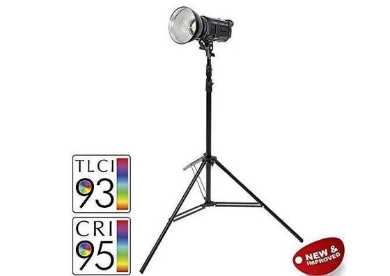 Photography Lighting Equipment On Big Tripod