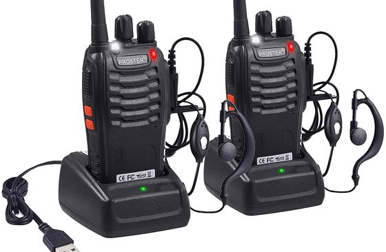 Walkie Talkies With Black USB Cable