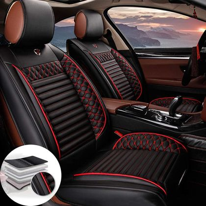 Black Leather Car Seat Covers