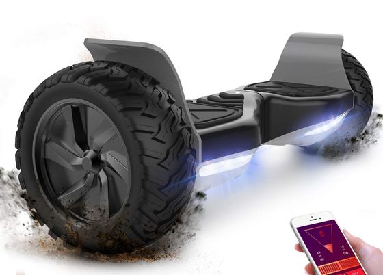 Electric Hoverboard With Black Wheels