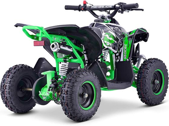 Off Road Quad Bike In White And Green