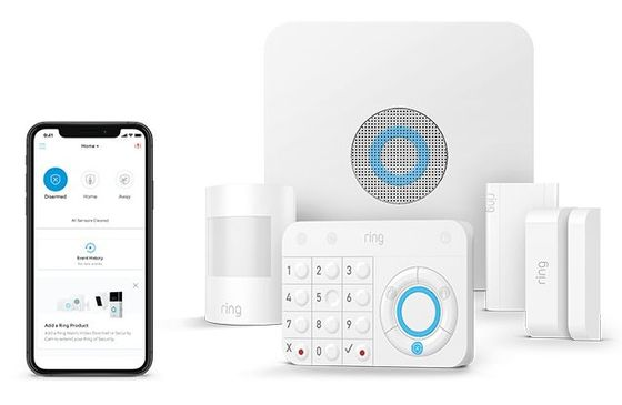 White Wireless Alarm Kit With Smartphone
