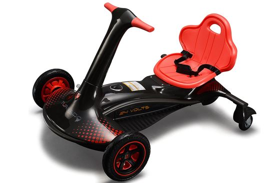 Battery Powered Go Kart With Red Seat