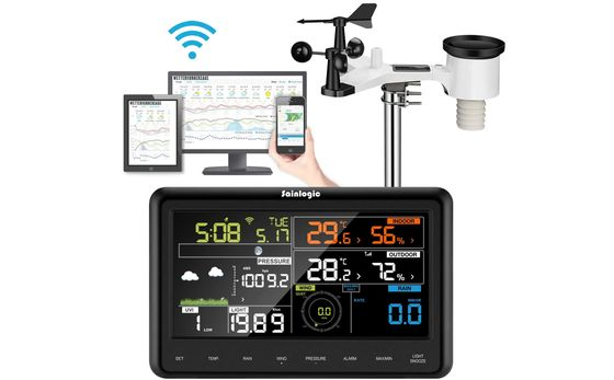 Pro Weather Station With White Wind Gauge