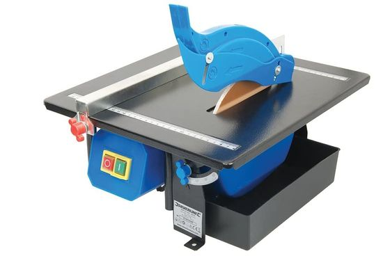 Electric Tile Saw With Red Diamond Blade