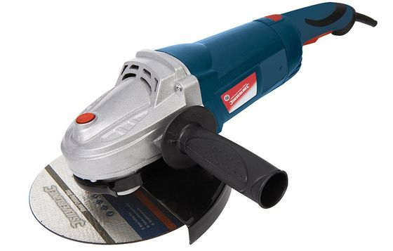 Angle Grinder With Black Rubber Hand Grip