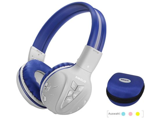 Wireless Headphones With White Blue Exterior