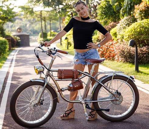 Ladies Electric Bike In White