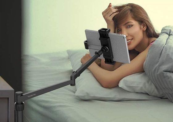 iPad Holder For Bed In Black Metal