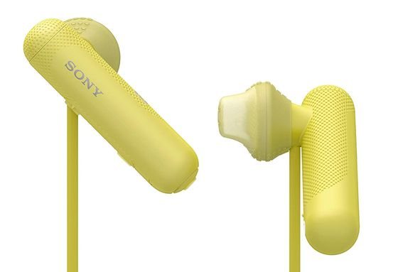 Sports In Ear Headphones With Yellow Cable