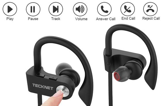 In-Ear Gym Headphones With Volume Buttons