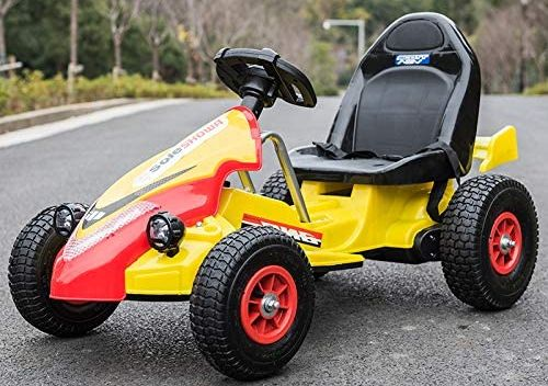 Children's Motorised Go-Kart In Yellow