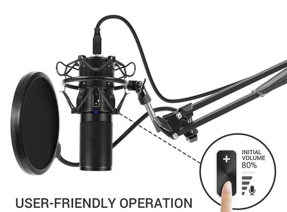 Condenser Cardioid Microphone In Black
