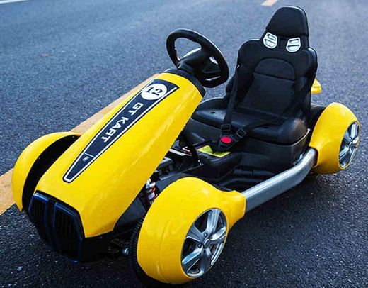 Fast Electric Go Kart In Bright Yellow