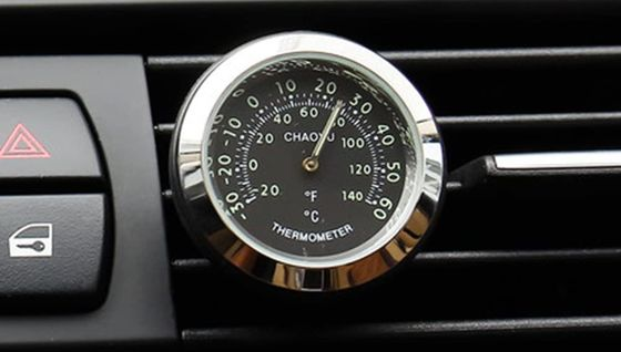 Mini Car Thermometer With Chrome Finish