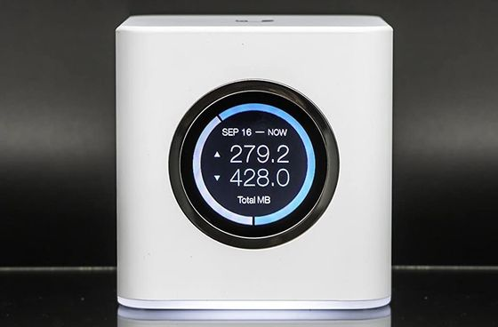 Powerful WiFi Router In Circular White Form