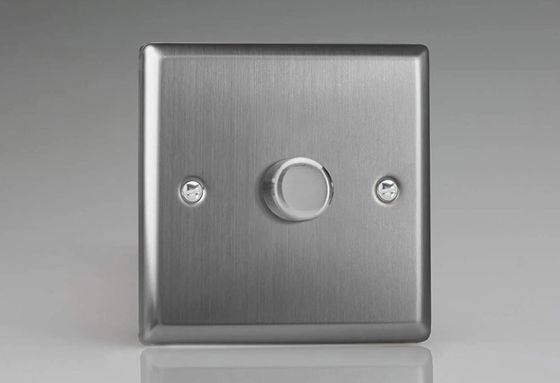 Steel 1 Gang 2-Way LED Dimmer Plate