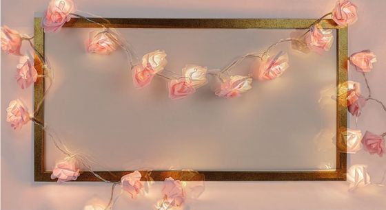 Pink Fairy Lights On Wall Structure