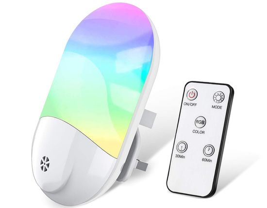 Night Light RGB Plug-In With White Remote