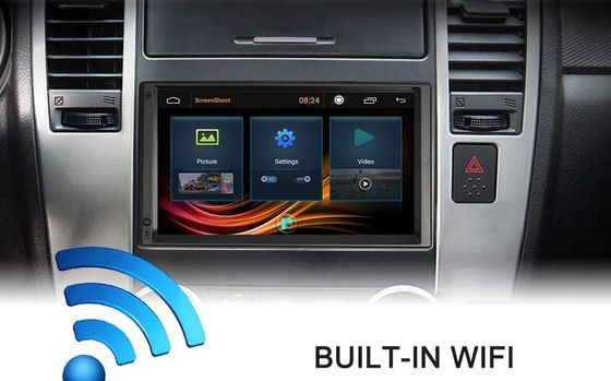 Double DIN Touchscreen Car Stereo In Dashboard