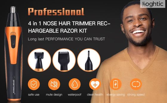 Cordless Nose Hair Trimmer With Red Button