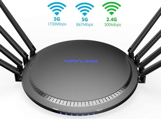 Concurrent Beam Forming 802.11ac Router In Black