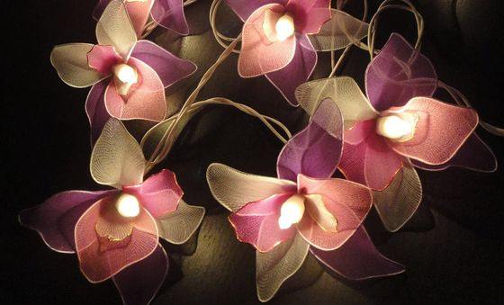 Indoor Fairy Light Flowers In Red