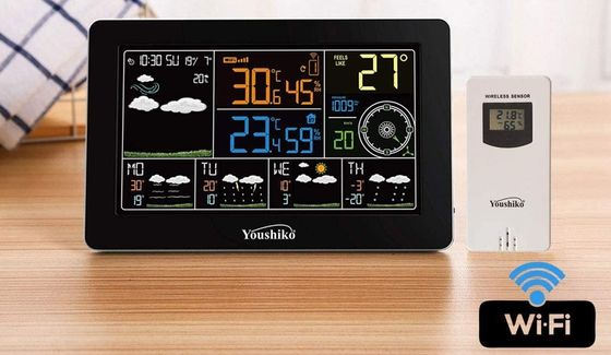 Weather Station With Black Background
