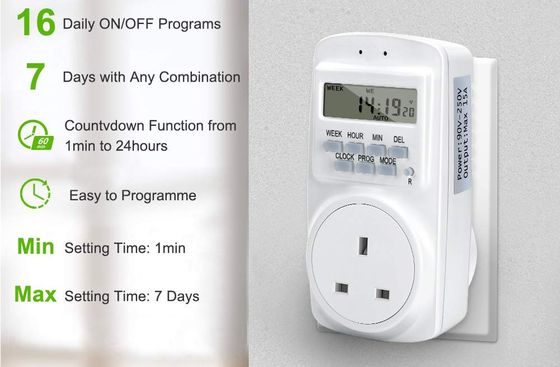 7 Day Electronic Timer In White Finish