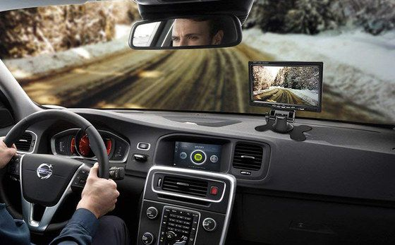 Black Caravan Reversing Camera With Big Display