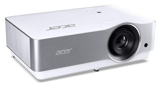 4K Laser Projector In White And Chrome