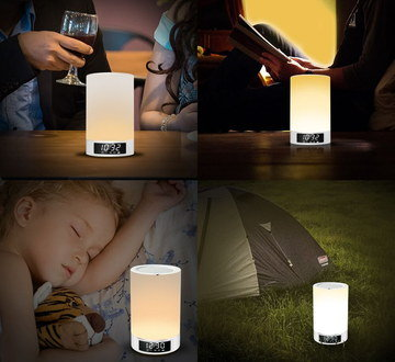 Night Bluetooth Speaker Lamp With Sleeping Child